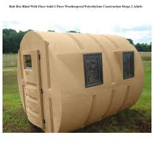 box blind ebay deer hunting box blind hay bale condo locks duck sniper bow rifle sturdy 2 man