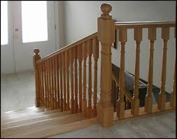 Spindles For Banisters Interior Wood Spindle Railing Colonial Wood Spindles And
