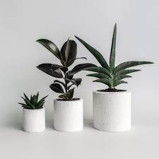 speckled concrete planter large u2014 form lifestyle store