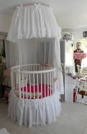 bedroom cool round cribs and pink bedding plus white canopy crib