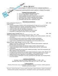 Medical Transcriptionist Resume Sample by Transcription Manager Cover Letter