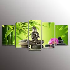 Decorative Paintings For Home by Amazon Com Youkuart Kx9903 Canvas Prints 5 Panel Wall Art Buddha