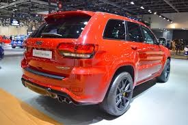 jeep hawk track jeep grand cherokee trackhawk rear three quarters at 2017 dubai