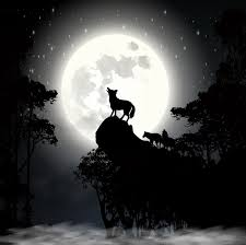 wolf howling at the moon vector wall mural pixers we live to