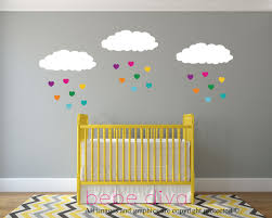 cloud wall decals rainbow hearts baby nursery wall decal baby previous next