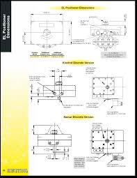 Dimensions Kinetrol El Positioner Dimensions Png