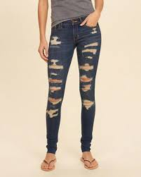 Skinny Jeans With Holes Hollister Shredded Low Rise Super Skinny Jeans I Want That