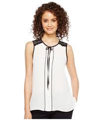 ivanka blouse lyst ivanka sleeveless georgette neck tie blouse with