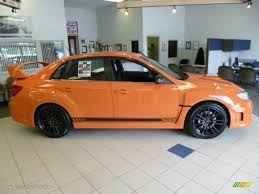 orange subaru impreza tangerine orange pearl 2013 subaru impreza wrx sti 4 door orange