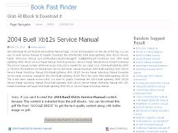 32 2004 buell xb12s service manual