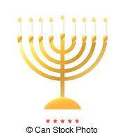simple menorah gold hanukkah menorah simple icon isolated on white vector