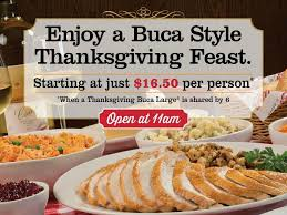 are you planning a relaxed thanksgiving with buca di beppo