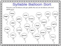 open and closed syllable worksheets free worksheets library