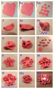 416 best clay flower tutorial images on modeling