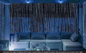 Led Lights Amazon Amazon Com Led Concepts 300 Led Curtain String Icicle Fairy