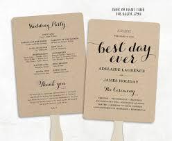 fan style wedding programs printable wedding program template fan wedding program diy
