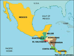 map of mexico and america map of mexico central america major tourist attractions