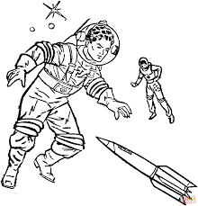 coloring pages of astronauts creativemove me