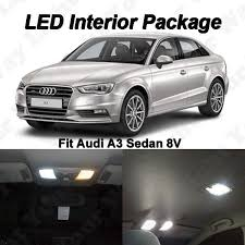 white audi sedan 7 x audi a3 8v sedan xenon white canbus error free smd led