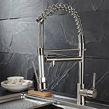 kitchen sink faucet sprayer flg commercial style single handle pull kitchen sink faucet