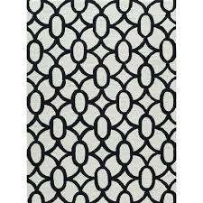 Black And White Modern Rugs Hooked Grey Black Area Rug
