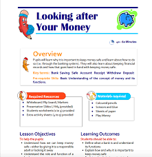 looking after your money teaching resource for key stage 1
