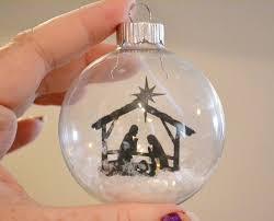 glass ornament nativity scene on acrylic paper cricut time