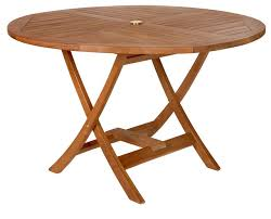 Teak Round Table Traditional Outdoor Dining Tables By All - Round outdoor dining table australia