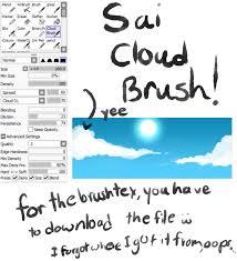 paint tool sai cloud brush by oceancatspirit on deviantart