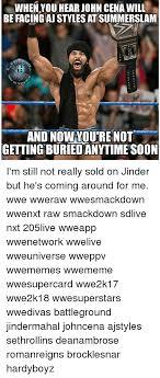Aj Styles Memes - when you hear john cena will be facing aj styles at summerslam insta