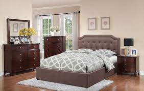 Full Set Bed Frame by 5pcs Tan Polyfiber Full Bed Frame Set W Nightstand Dresser Chest