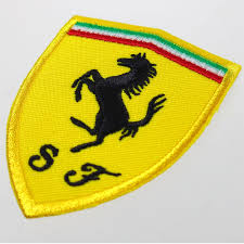 ferrari logo ferrari shield embroidered patch 60x76mm emblem brand logo mark