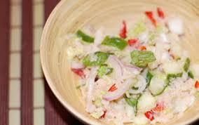 cuisiner crabe recette salade thaï au crabe 750g