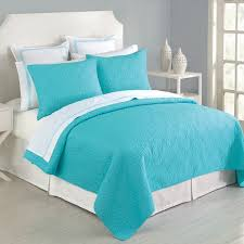 Plain White Comforters Stylish Turquoise White Comforter Set With 7pc Queen Size