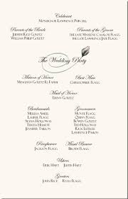 sle wording for wedding programs wedding program wording magnetstreet weddings wedding program