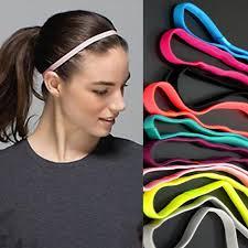 headbands that don t slip candy color women sports elastic headband running fitness