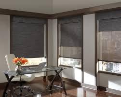 corportate office motorized shades modern window treatments