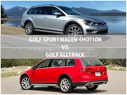 the differences between the 2017 vw golf sportwagen 4motion and