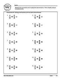Multiply And Divide Fractions Worksheet Multiply The Fractions With Common Denominators Worksheets