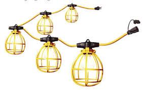 temporary job site lighting 50 foot 5 bulb temporary lighting string work lights attic jobsite
