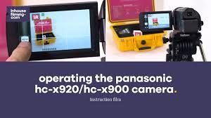 panasonic 3mos manual operating the panasonic hc x920 hc x900 camera youtube