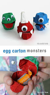 Cute Halloween Monsters by Egg Carton Monsters The Craft Train