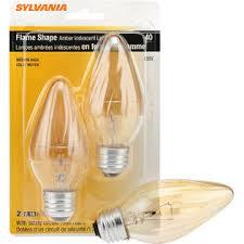 sylvania decorative light bulbs sylvania incandescent decorative flame l f15 medium base 120v