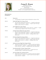 Actor Resume Format Dancer Resume Template Free Resume Example And Writing Download