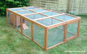Rabbit Hutch With Detachable Run Large Rabbit Run And Hutch