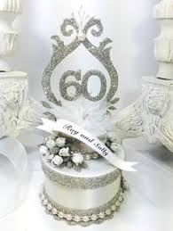 60th diamond wedding anniversary cake topper 60 wedding