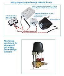 gas leakage detector alarm used in cng car lgc