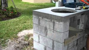 outdoor kitchen faucet concrete outdoor kitchen overview and tips during construction