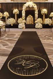 black aisle runner ceremony décor photos custom black aisle runner inside weddings