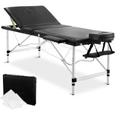 fold up massage table for sale portable massage table aluminium 3 fold 75cm black buy massage tables